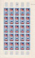 FRANCE N°840 Amitié Franco-Américaine, 1 Feuille De 25 Exemplaires Sans Charnière - France