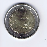 Italia - 2 Euro Commemorativo 2019 - Leonardo Da Vinci - Italy