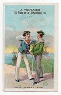 Chromo - PARIS -- A. VOLTAIRE - Habillements--Marins Français Et Russe.........à Saisir - Autres