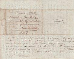 """FRANCE : MP . """" P16P SAINTES """" . POUR LE 5ème CORPS DE LA GRANDE ARMEE A NEISS . EN SILESIE PRUSSE . 1808 . - Marcophilie (Lettres)"""