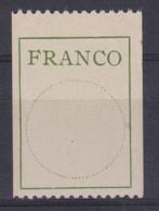 SUISSE  Etiquettes 'FRANCO'   Le  ZNr 3,  Neuf ** - Portofreiheit