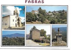 07 FABRAS Cpm Multivues - France