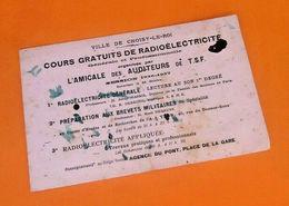 Ancien Buvard Ville De Choisy-le-Roi  Cours Gratuits De Radioélectricité Session 1936-1937 - Electricité & Gaz