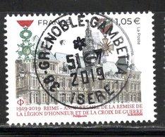 France 2019.Reims.Anniversaire.Légion D'Honneur Et Croix De Guerre.Cachet Rond.Gomme D'Origine. - Frankreich