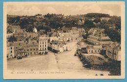 REDON - Place De La Sous-Préfecture - Auto Oldtimer - Carte Circulé 1932 - Redon