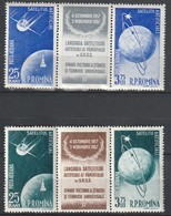 ROUMANIE - PA N°69/72 ** (1957) Satellites Artificiels - Nuovi