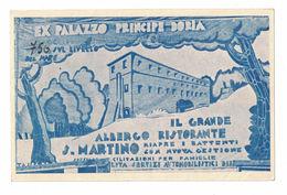 CARTOLINA POSTALE CARTE POSTALE  GRANDE ALBERGO SAN MARTINO - Pubblicitari