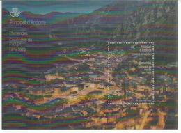 ANDORRA.FHASA/FEDA.(Forces Hidroelèctriques D'Andorra) 90 Ans.Bloque Lenticular, Oblitéré, Haute Faciale. 1 ère Qualité - Used Stamps