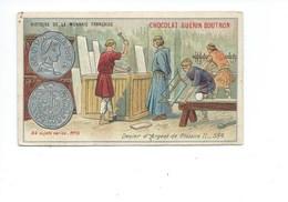 Chromo Monnaies Françaises Clotaire II Denier D'Argent Bien  2 Scans Pub: Guerin Boutron - Guerin Boutron