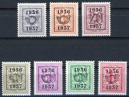 BELGIQUE 1956 Timbres PO 659 à 665 ** (MNH). Préoblitération Typographique - Tipo 1951-80 (Cifra Su Leone)