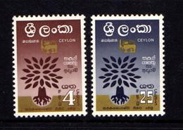 CEYLON      1960    World  Refugee  Year   Set  Of  2        MNH - Sri Lanka (Ceylon) (1948-...)