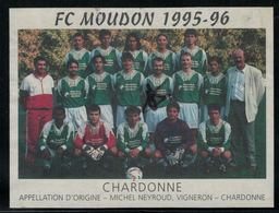 Etiquette De Vin // Chardonne, Football F.C. Moudon 1995-1996 - Soccer