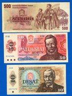 Tchécoslovaquie  6  Billets - Tchécoslovaquie