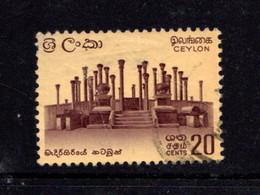 CEYLON      1964    20c  Brown -purple  And  Black        USED - Sri Lanka (Ceylon) (1948-...)