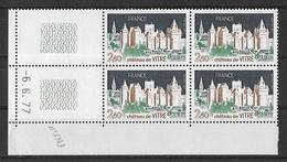 France -1977 - Coin Daté 6/6/77 - 2f.40 Gris-vert Et Brun  - Château De Vitré -Y&T N° 1949 ** Neuf Luxe (TB). - Coins Datés