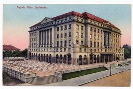 1927 YUGOSLAVIA, CROATIA, ZAGREB TO SKOPJE, HOTEL ESPLANADE, ILLUSTRATED POSTCARD, USED - Yugoslavia