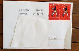 FRANCE Yvert N°2793 Seul Sur Lettre Et Au Tarif (enveloppe Complète. Adresse Cachée Pour Les Besoins De La Photo) - Marcophilie (Lettres)