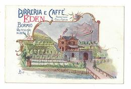 CARTOLINA POSTALE CARTE POSTALE  BURRERIA E CAFFE' EDEN BORMIO - Pubblicitari