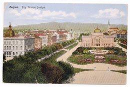 1920 YUGOSLAVIA, CROATIA, ZAGREB TO PARIS, FRANCE, BAN JELACIC SQUARE, ILLUSTRATED POSTCARD, USED - Yugoslavia
