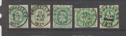 COB 30 Oblitération Centrale BRUXELLES Cachets Et Nuances - 1869-1883 Léopold II