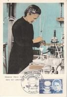 Carte Maximum Yvert  1533 Marie Curie Paris 21/10/1967 - Maximum Cards