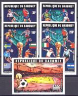 Football / Soccer / Fussball - WM 1974:  Dahomey  5 W **, Imperf. - Coppa Del Mondo
