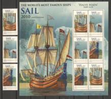Grenada - SAIL 2010 - MNH Set MS HALVE MAEN 1608-1618 (*) - Boten