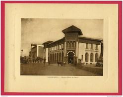 FORMAT CARTE POSTALE 22 X17,5 Cm (Réf : W 083) CASABLANCA Banque D'État Du Maroc (animée) (AFRIQUE MAROC) Année Env 1920 - Casablanca