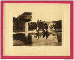 FORMAT CARTE POSTALE 22 X17,5 Cm (Réf : W 081) CASABLANCA Parc Central - Bassin (animée) (AFRIQUE MAROC) Année Env 1920 - Casablanca
