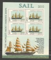 Guyana - SAIL 2010 - MNH Sheet MS AMERIGO VESPUCCI - Boten