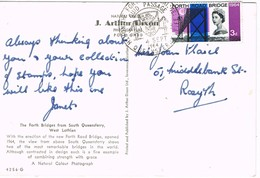 33345. Postal. FORTH ROAD BRIDGE 1964. North Queensferry - West Lothian- GUID Passage - Covers & Documents