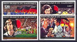 Football / Soccer / Fussball - WM 1974:  Dahomey  4 W **, Imperf. - 1974 – Westdeutschland