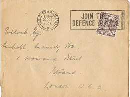 33346. Carta BAILE ATHA CLIAT (Dublin) Eire 1952. Slogan Defense Forces - 1949-... República Irlandése