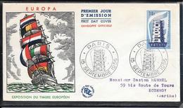 FDC 1956 - 1076 & 1077 Exposition Du Timbre Européen( Europa) - 1950-1959