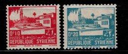 SYRIE - 1940 - YT N° 250 /251  - * - Damas - Syria (1919-1945)