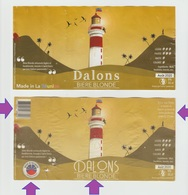 Etiquette  Ile LA REUNION ,DALONS 33cl, Ancienne/Nouvelle ,Biere Birra Cerveza Piwo Pilsen étiquettes - Bière
