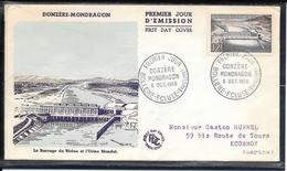 FDC 1956 - 1078 Barrage De Donzère-Mondragon - 1950-1959