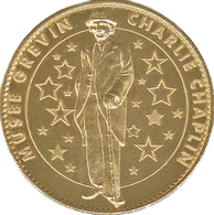 75 PARIS MUSÉE GREVIN CHARLIE CHAPLIN MÉDAILLE ARTHUS BERTRAND 2008 JETON MEDALS COINS TOKENS - Arthus Bertrand