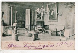 Cpa Chateau De La Punta Corse Grand Salon1905 - France