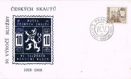 33348. Carta PRAHA (Checoslovaquia) 1968- N.V.  Narodni Vladi. SCOUTS, Exploradores - Checoslovaquia