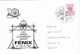 33349. Carta PRAHA (Republica Checa) 1997.  FENIX 97. Reunion SCOUTS, Exploradores - República Checa