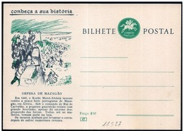 Portogallo/Portugal: Intero, Stationery, Entier, Difesa Di Mazagao, Défense De Mazagao, Defense Of Mazagao - Storia
