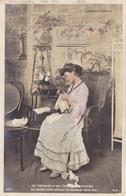 """CARTE FANTAISIE. COUPLE. SÉRIE COMPLÈTE DE 6 CARTES COLORISÉES.  """" CHAGRIN D'AMOUR """". ANNÉE 1905 - Couples"""