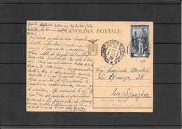 Italia ,intero Mazzini Ricoperto E Usato Nel 1951 Da Bergamo A La Spezia ( Ref 1527) - Entiers Postaux
