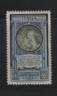 1932 Dante Serie 100 L. Leonardo Da Vinci MNH - 1900-44 Vittorio Emanuele III