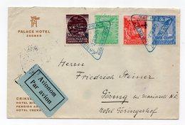 1934 YUGOSLAVIA, CROATIA, ZAGREB TO GOSING, AUSTRIA, PALACE HOTEL, AIR MAIL - 1931-1941 Kingdom Of Yugoslavia