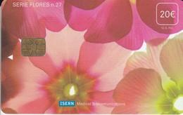 ISN-076 TARJETA DE ESPAÑA DE ISERN DE LA SERIE FLORES Nº27  FLOR-FLOWER - Flores