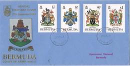 33354. Carta WARWICK (Bermuda) 1984. Coats Of Arms. Escudos - Bermudas