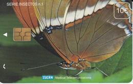 ISN-043 TARJETA DE ESPAÑA DE ISERN DE UNA MARIPOSA (BUTTERFLY) - Butterflies