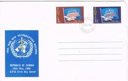 33355. Carta F.D.C. NDOLA ZAMBIA 1966. New Headquarters Building W.H.O. - Zambia (1965-...)